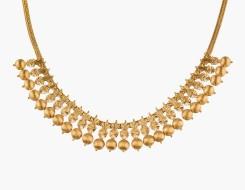 Matt finished bead necklace