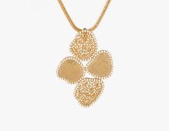 textured filigree pendant