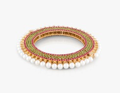Ethnic Ruby & Emerald Bangle