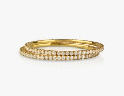 Pair of Dainty Diamond Bangles