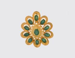 Emerald & Pearl Pendant