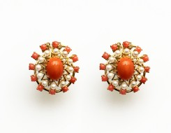 CORAL EAR STUDS