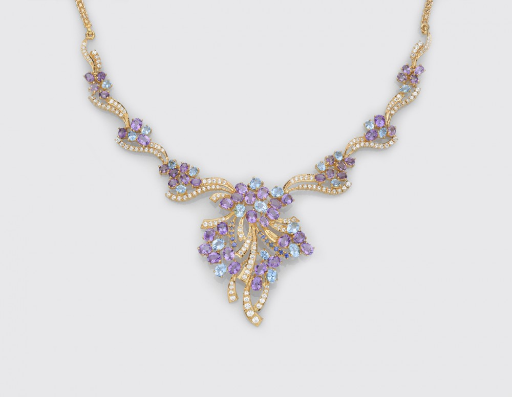 Semi Precious Stone Necklace - Featured Products | Lalitha Jewellers